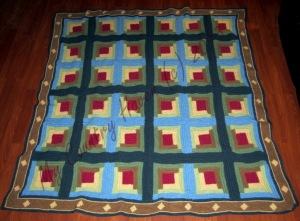 Sunshine & Shade Afghan Quilt
